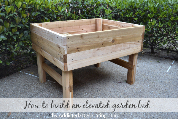 How To Build An Elevated Garden via Addicted 2 Decorating