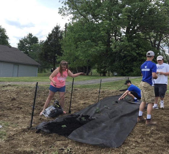 News: Bethlehem students build community garden via The Kentucky Standard