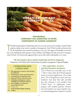 A community garden leadership handbook via the City of Seattle (PDF)